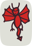 little red demon from openclipart