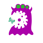 purple monster from openclipart