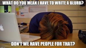 head desk meme on book blurbs